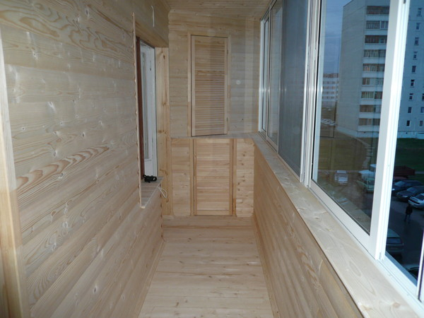 Обшить балкон своими руками блок хаус